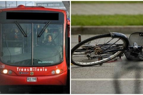 Transmilenio y bicicleta. Pulzo.