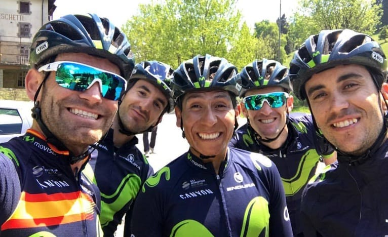 Nairo Quintana con el Movistar Team