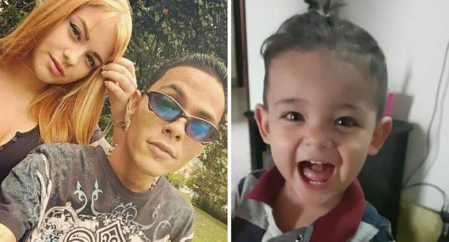 Daniela Galindo Sierra, Mateos Sepúlveda (mamá y padrastro del menor) y Miguel Ángel Rivera, niño asesinado