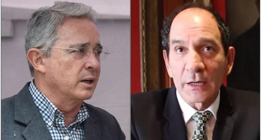 Álvaro Uribe y Juan Carlos Henao