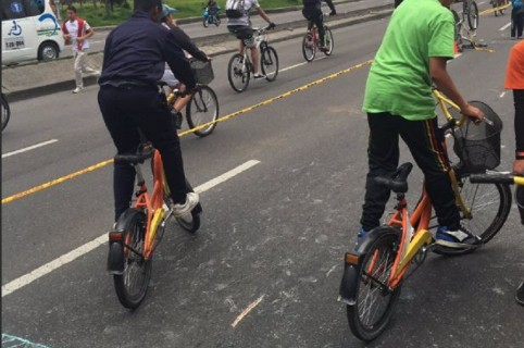 Niños del programa 'Al colegio en bici'