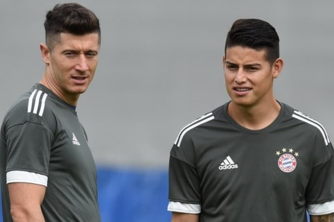 James Rodríguez y Robert Lewandowski