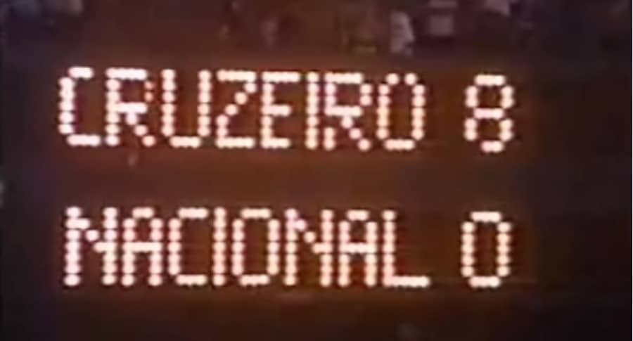 Cruzeiro 8-0 Nacional