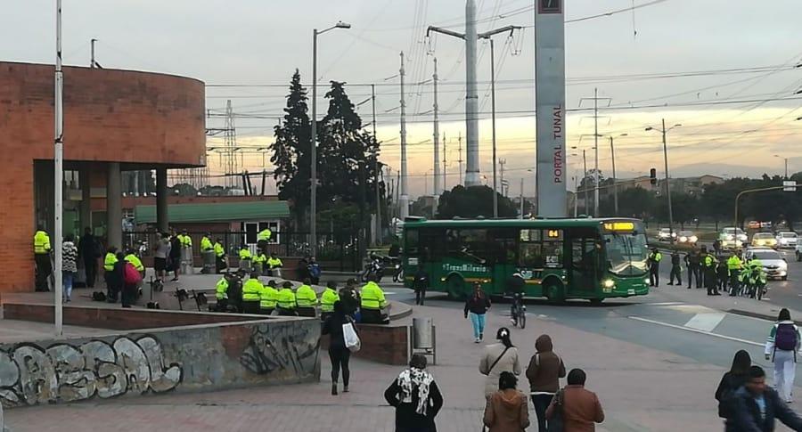 Paro en sur de Bogotá