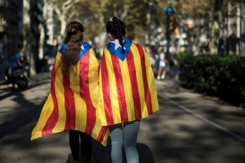 Preparations Are Made Leading Up To The Catalan Independence Referendum