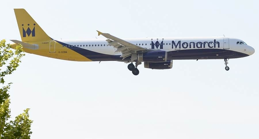 Avión de Monarch
