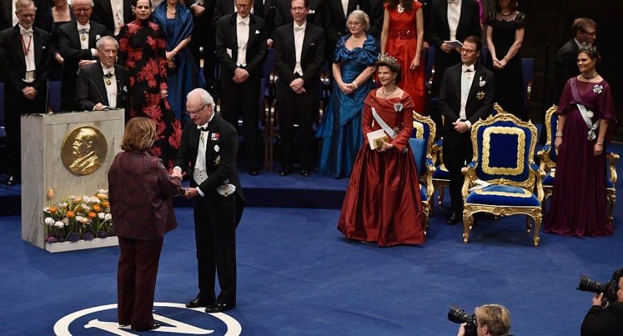 Entrega del Premio Nobel de Literatura, en 2015