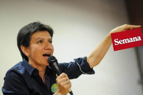 Reclamo de Claudia López a Semana