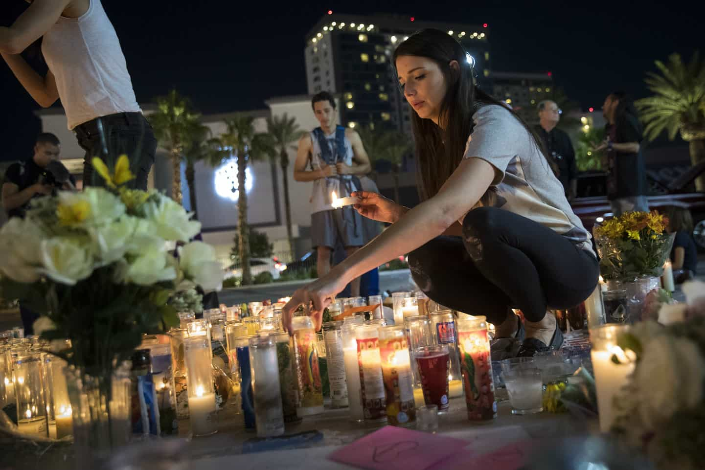 Homenaje a la víctimas del tiroteo de Las Vegas