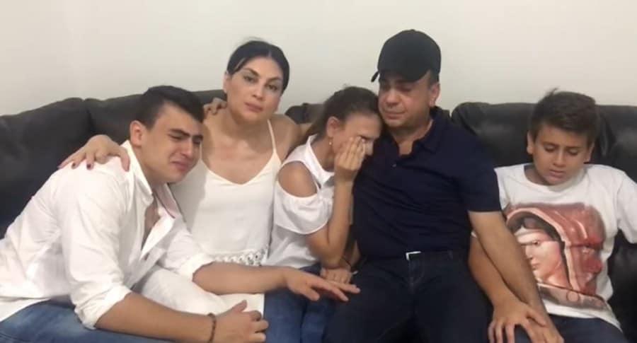 Musa Besaile y su familia