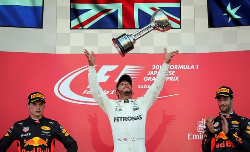 Hamilton, Verstappen y Ricciardo