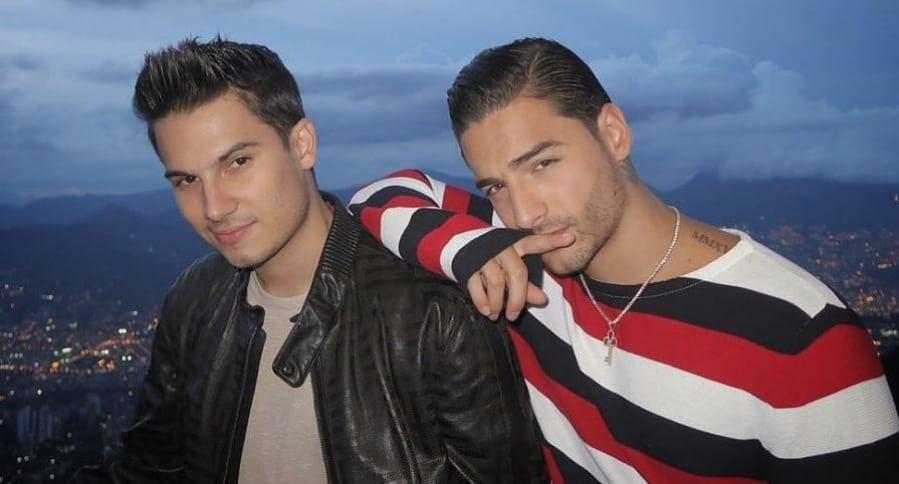 Pipe Bueno y Maluma, cantantes.