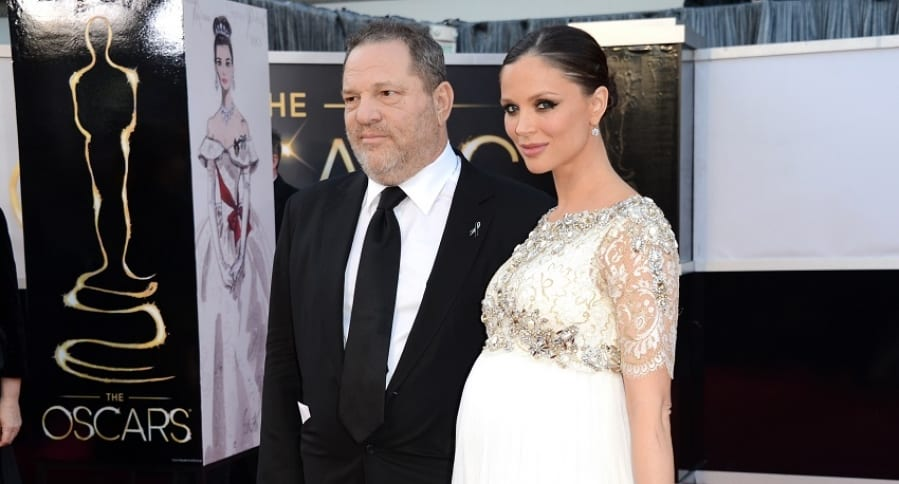 Harvey Weinstein y su esposa en 2013