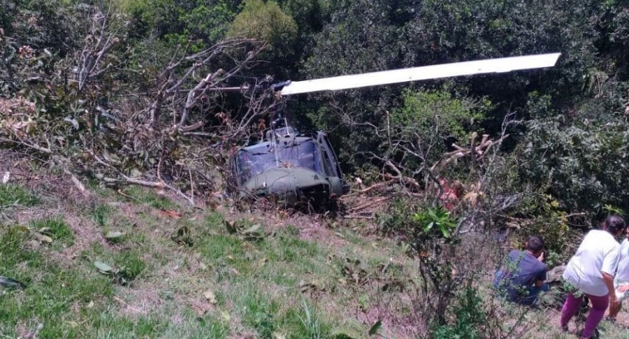 Accidente de helicóptero militar