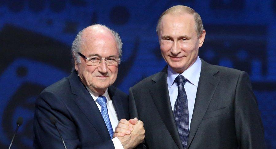 Sepp Blatter y Vladimir Putin
