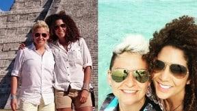 La locutora Camila Chaín y la exparticipante del 'Desafío' 'la Crespa' Martínez.
