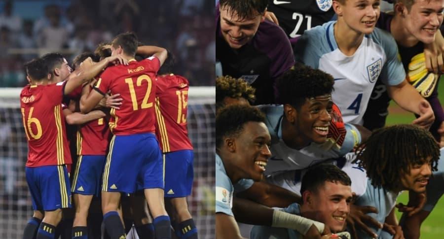 Selecciones de España e Inglaterra