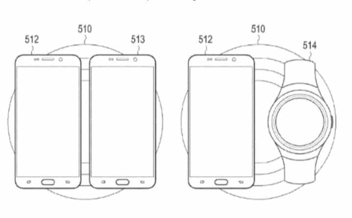 Patente cargador inalámbrico de Samsung