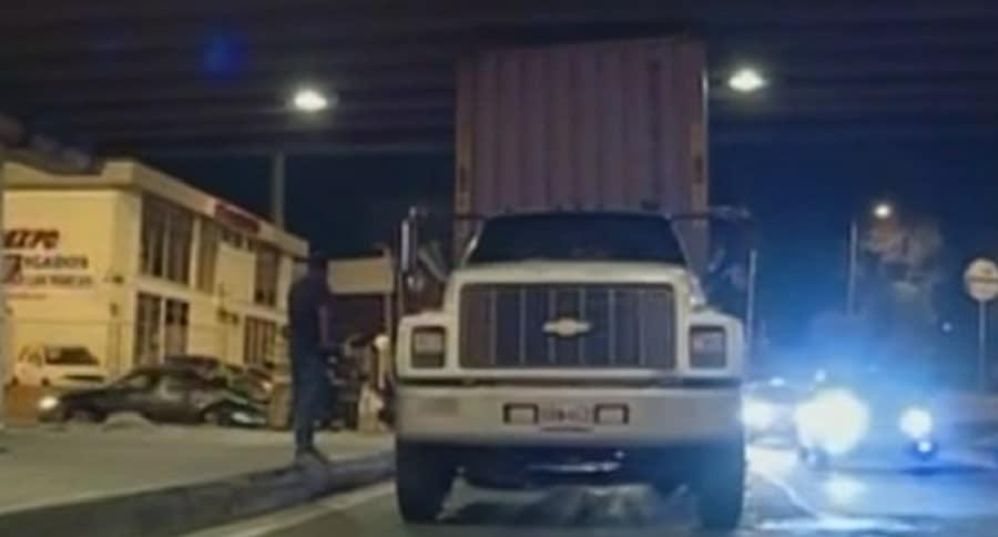 Camión estrellado