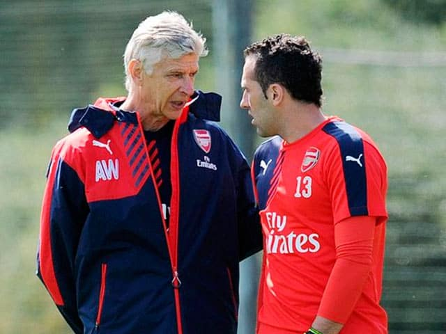 Arsene Wenger y David Ospina