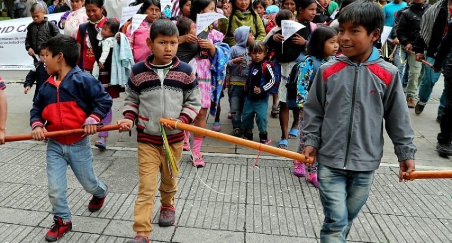 Indígenas en protestas