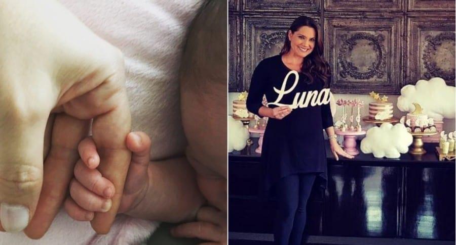 Jessica de la Peña, presentadora de RCN, y su bebé, Luna.