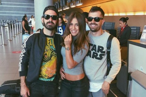 Jean Paul Egred, Greeicy Rendón y Mike Bahía, cantantes.