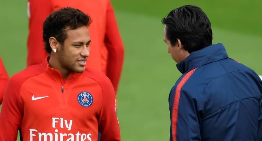 Neymar y Unai Emery