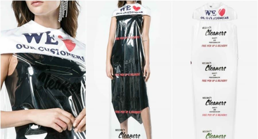 Moschino vende vestido de bolsa de lavandería