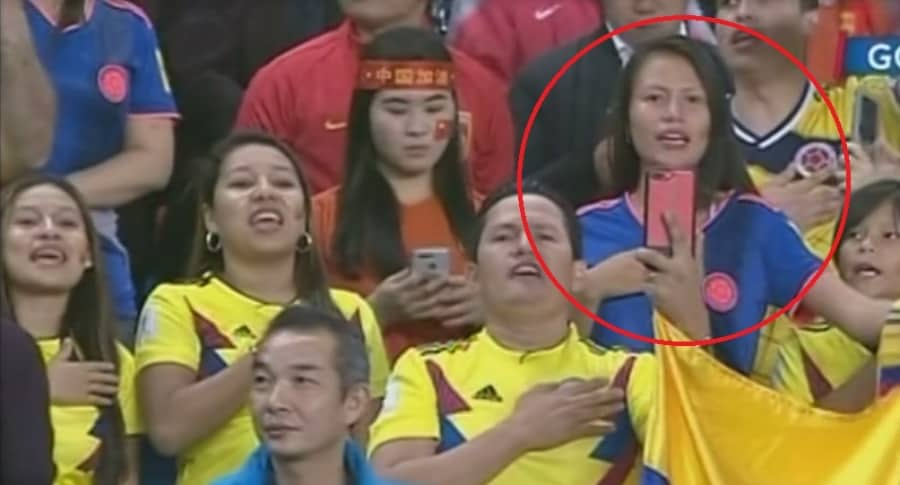 Camiseta suplente de Colombia en China