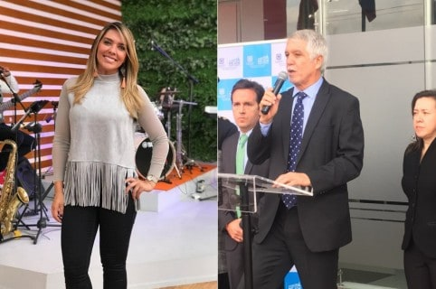 Mónica Rodríguez, presentadora de 'Día a día', y Enrique Peñalosa, alcalde de Bogotá.
