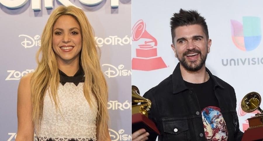 Shakira y Juanes, cantantes.