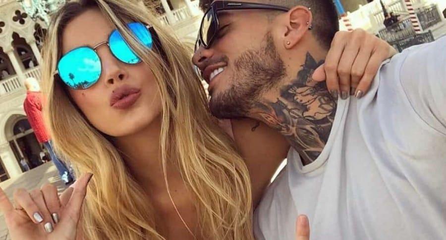Melina Ramírez, presentadora, y su novio Mateo Carvajal, ganador del 'Desafío' 2017.