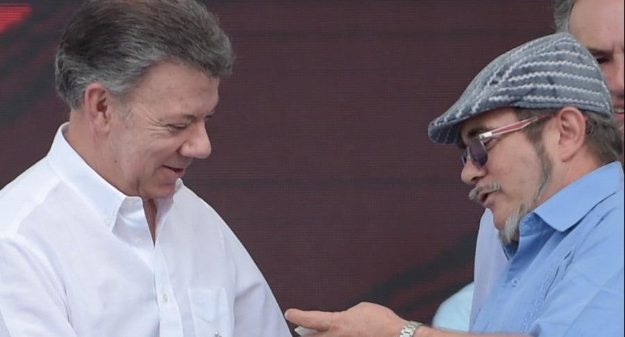 Juan Manuel Santos y Rodrigo Londono Echeverri