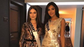 Miss Alemania y Miss Colombia en Las Vegas.