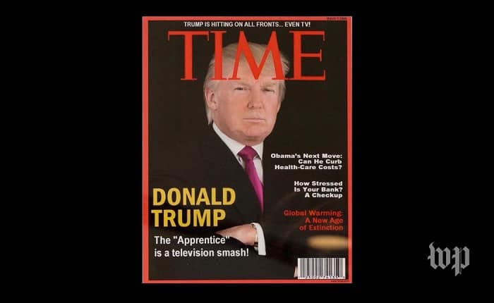 Falsa portada de Trump en Time