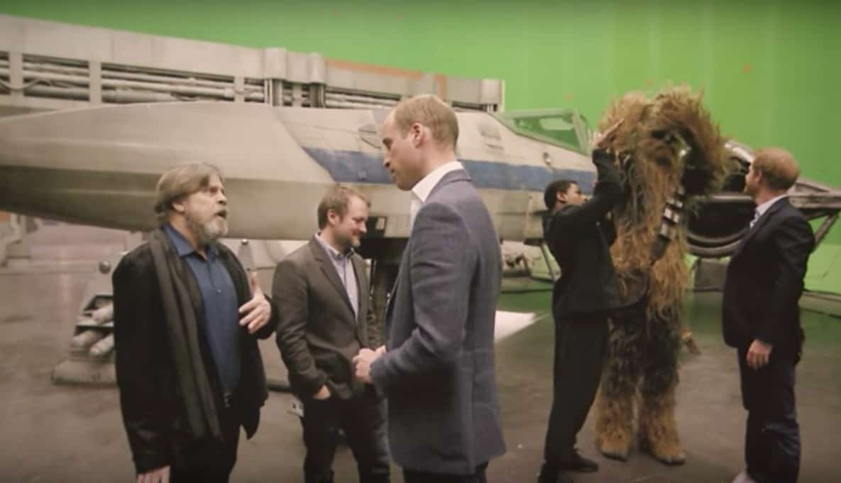 Los príncipes William y Harry en el set de 'Star Wars: The Last Jedi'. Pulzo.