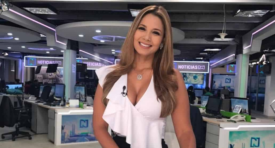 Melissa Martínez, presentadora de deportes de RCN.
