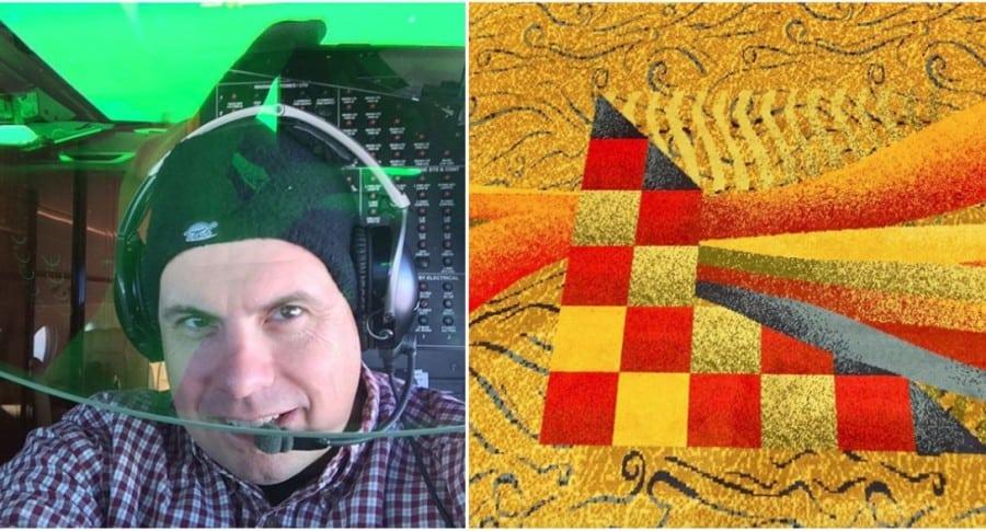 Piloto Bill Young, que tiene una cuenta de Instagram dedicada a tapetes de hotel. Pulzo.