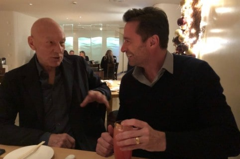 Patrick Stewart y Hugh Jackman. Pulzo.