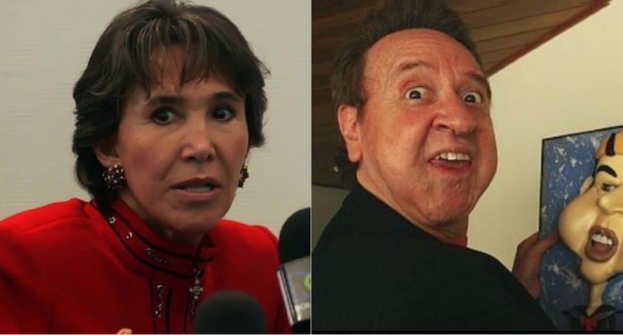 Florinda Meza y Carlos Villagrán, actores.