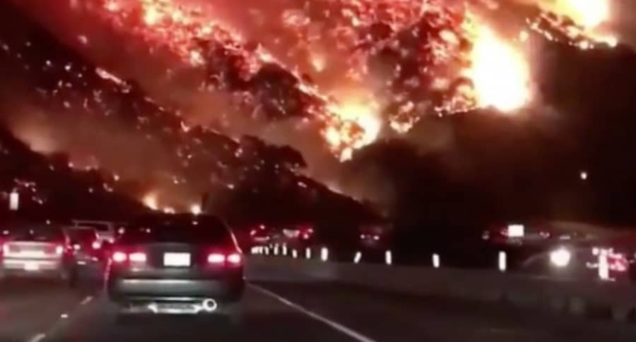 Incendio forestal en California.