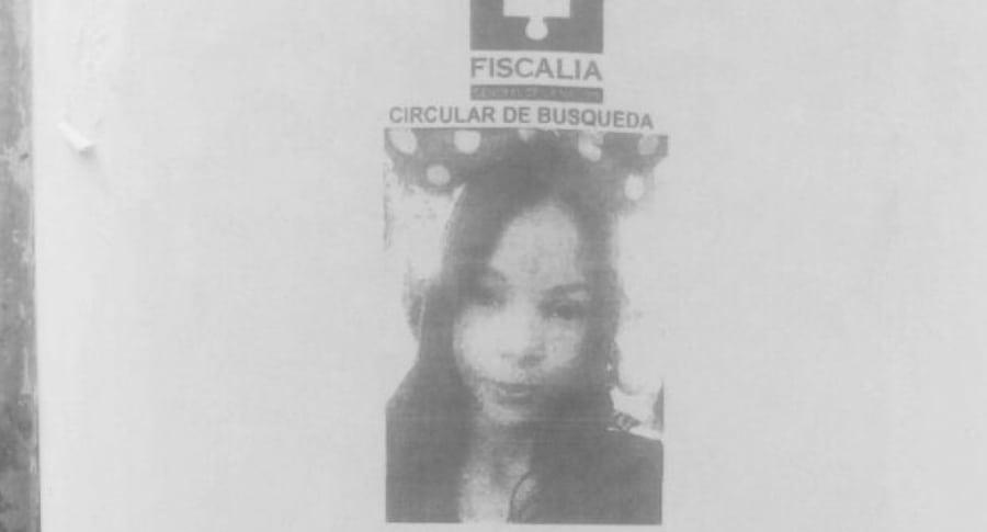 Circular de búsqueda de Gabriela Andrea Romero Cabarcas