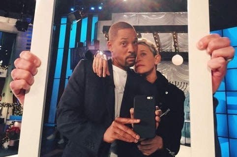 Will Smith y Ellen DeGeneres. Pulzo.