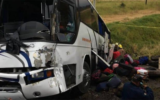 Accidente de bus en El Salto, Tamaulipas.