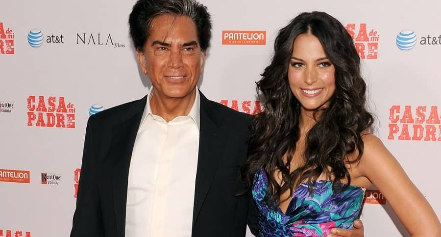 El cantante José Luis Rodríguez, 'el Puma', y su hija, la actriz Génesis Rodríguez.