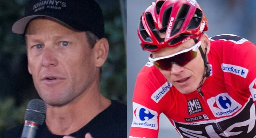 Lance Armstrong y Chris Froome