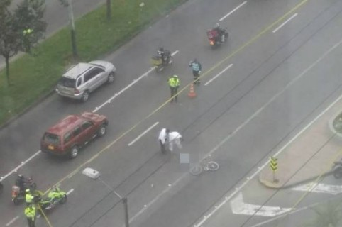 Accidente en el que murió el ciclista