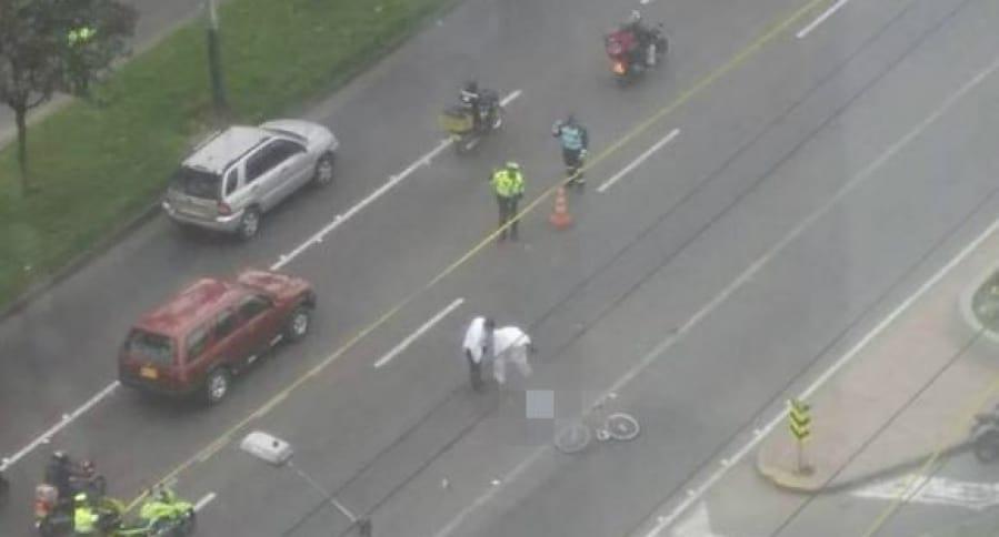 Accidente en el que murió el ciclista