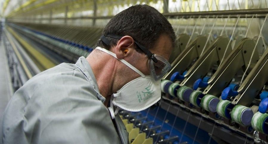 Trabajador en industria textil